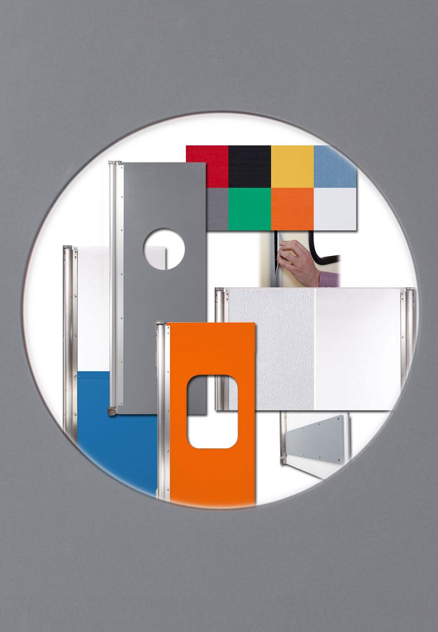 Polyethylen Pendeltüren: Verschiedene Ausführungen und Farb-Variationen