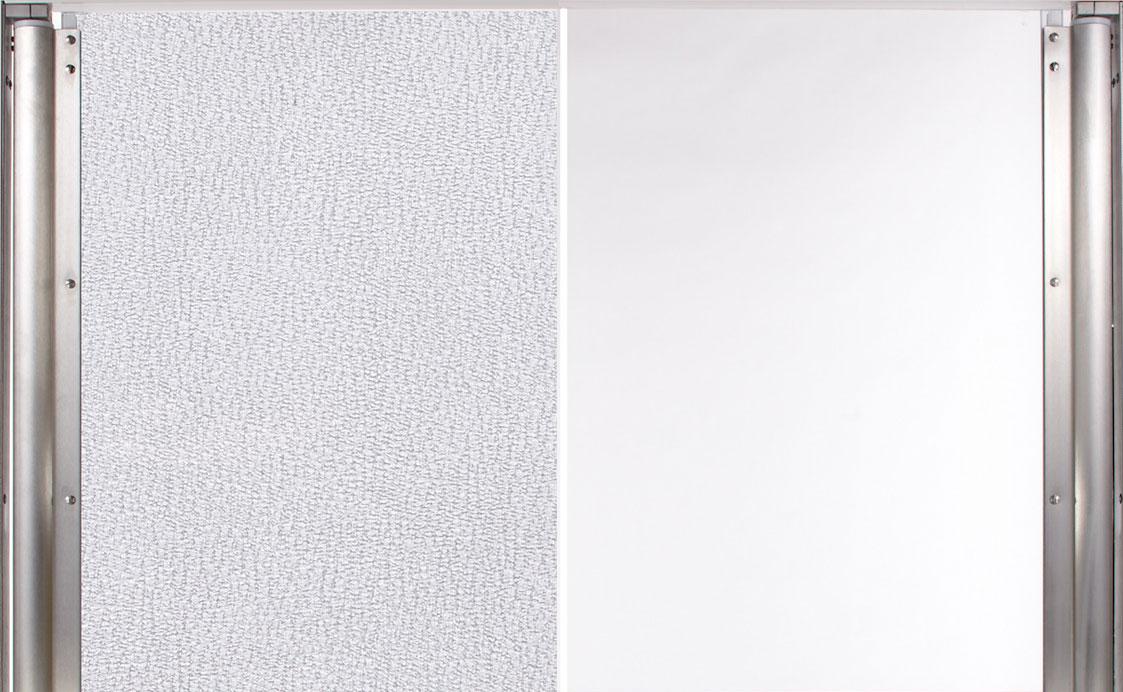 Polycarbonat Pendeltür: Material: Duschglas oder glasklar